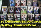 KEN GRIFFEY JR. _ 17 Different $2.00 Limited-Print Cards _ Choose 1 or More