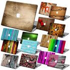 Wood Painted Matte Hard Case Cover +KB+SP For Macbook Pro Air 11 13 15 Retina 12