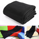 Blanket Throw Super Soft Plush Faux Solid Fur For Bed Sofa Black