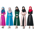 Ladies Kaftan Abaya Patchwork Muslim Long Sleeve Islamic Women's Maxi Long Dress