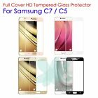 Real Premium Full Cover Tempered Glass Screen Protector For Samsung Galaxy C5 C7