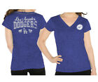 Los Angeles Dodgers Womens Ladies ALYSSA MILANO TOUCH Outfield T-Shirt Blue