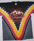 AEROSMITH-DREAM ON-GUITAR-TIE DYE-2 SIDED T SHIRT; Tyler, Perry  M, 2XL RARE NEW