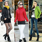 Fashion Womens Outerwear Hooded Casual Zip Slim Down Cotton Jacket Coat Overcoat