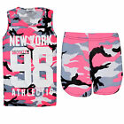 Ladies Camouflage 98 Vest Top & Short Set Summer NewYork Outfit New S/M, M/L