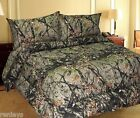 All Sizes Bed Sheets Woodland Forest Camo MicroFiber Bedding Set 4 Piece Sheets