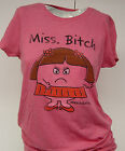 NEW Womens Juniors DAVID & GOLIATH Little Losers Miss Bitch Red T-Shirt