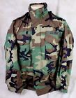 1990'S GENUINE US ARMY MILITARY ISSUE M-65 FIELD JACKET COAT WOODLAND CAMO