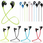 QY7 Wireless Bluetooth Stereo Earphone Sport Running Studio Music Headset w/ Mic