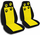2 Front Paw Print Seat Covers 2003 to 2006 Jeep Wrangler  11 Color Combinations