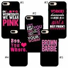 Pink cool cute mean girl quotes fancy style character quotes iPhone case cover