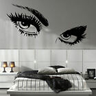 LARGE WOMAN EYES AUDREY HEPBURN EYE BEAUTY SALON WALL STICKER NEW TRANSFER UK