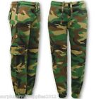 KIDS ARMY JOGGERS CAMO JOGGING CARGO PANTS TROUSERS BOYS GIRLS CAMOUFLAGE