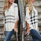 Fashion Womens Summer Long Sleeve Shirt Casual Blouse Loose Chiffon Tops T Shirt