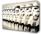 STAR WARS LEGO STORMTROOPERS LINE UP FUNNY - GICLEE CANVAS ART