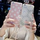 Bling Glitter Soft Diamond Silicone Phone Case For iPhone 6 6S 7 Plus+Hang rope