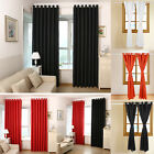 2PANELS Solid Lined Thermal Blackout Grommet Window Curtain (PS: buy 1get 1free)