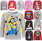 Boys Girls Unisex Kids Novelty Retro Sweater Santa Party Christmas Jumpers Xmas