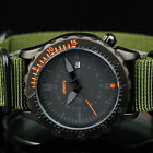 INFANTRY Mens Quartz Wrist Watch Date Tachymeter 24Hr Army Sport Fabric Military