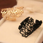 HOT Fashion Design Bohemian Style Golden Hollow Out Flower Ring Size