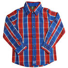 Timberland Check Woven Boys Kids Children Cotton Long Sleeve Shirt T0260 626 U3B