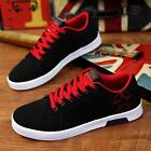New Fashion Men's Sneakers Running Scrub Suede Lace Up Casual Athletic Shoes