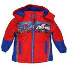 Spider-Man Toddler Boys Red & Blue Puffer Coat Size 2T 3T 4T 5T