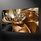 CHROME SWIRL ABSTRACT QUALITY CANVAS PRINT PICTURE READY TO HANG
