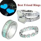 Fashion Glow in the Dark Luminous XOXO Best Friend Couple Rings Glowing Jewelry