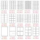 10 Sheets Address Labels White A4 Sticky Self Adhesive for Inkjet / Laser