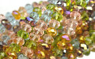 36 Morning Glory Mix Faceted Crystal Rondelle Beads 8MM