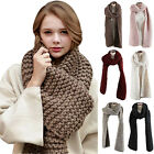Winter Couple Women Men Warm Elegant Soft Long Thick Knit Crochet Collar Scarf
