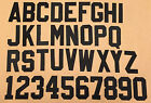 """2"""" Two Inch Black Tackle Twill Letters and Numbers"""
