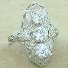 Kyпить ART DECO CLASSIC ANTIQUE STYLE 925 STERLING SILVER CZ RING,                 #847 на еВаy.соm