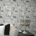 Vintage English Letter Newspaper Wallpaper For Study Room Covering  Decol