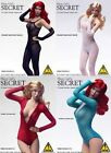 Flirty Girl SECRET FISHNET LINGERIE Bodysuit / Leotard 1/6 Scale CLOTHING Figure