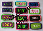 Girl Scout COOKIE SALE BOXES SOLD PATCH Rocker CHOOSE 75+ 100 150 200 300 CHOOSE