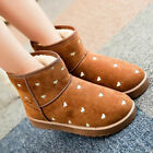 Women's Winter Casual Warm Martin Boots Thicken Suede Shoes Ankle Snow Boots