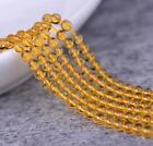 0136 Natural Brazil 2-3mm Yellow Crystal Round Yellow Crystal beads strand