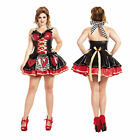 Women's Plus Red Queen of Hearts Costume Dress Alice in Wonderland 1X 2X 3X