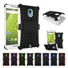 Hybrid Stand Protector Silicone Shockproof Cover Case For Motorola Moto X play