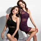 Skin-tight Cut Out Backless One Shoulder Women's Bodycon Dress Clubwear Stretch