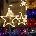 Five-Pointed Star LED String Curtain Lights Xmas Tree Wedding Party Decoration