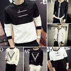 CHIC New Stylish Slim Fit Casual Shirt Tee Cotton Men\'s Long Sleeve T-Shirt Hot