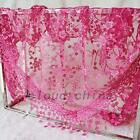 Women's Triangle Embroidered Scarf Tassel Lace Mantilla Shawl Wrap Accessories