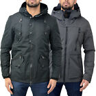 Mens Eto Hooded Zip Up Designer Fleece Lined Stylish Coat Jacket