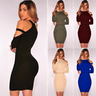 Women Bandage Bodycon Dress Evening Party Cocktail Short Mini Dress Long Sleeve