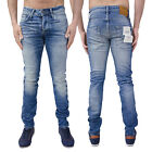 Jack & Jones Uomo Jeans Di Marca Skinny Fit Slim Stretch Denim Pantaloni Nuovi
