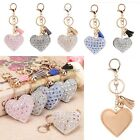 Key Chain Romantic Keyring Love Heart Pendant Rhinestone Key Finder Keyring K0E1