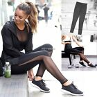 Women Sports Trousers Yoga Mesh Workout Lady Gym Leggings Fitness Athletic pants